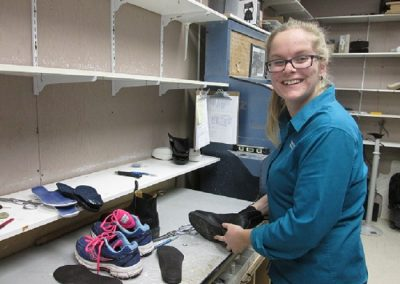 Emily orthotics in shoe